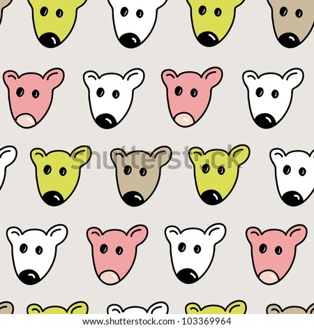 funny little mouse seamless pattern in jpg - stock photo