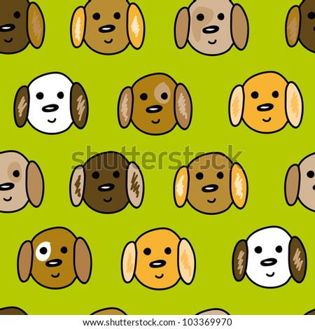 funny little puppy seamless pattern in jpg - stock photo
