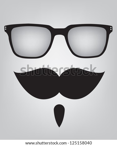 Funny mask sunglasses and mustache - stock photo