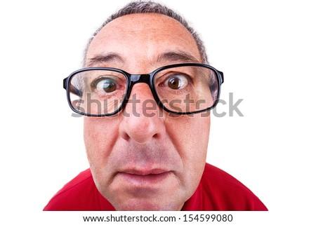 Funny men portrait - stock photo