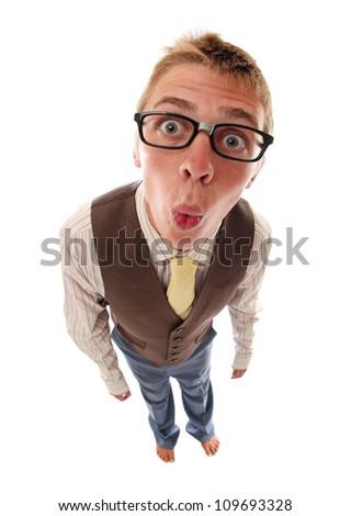 Funny nerd - stock photo