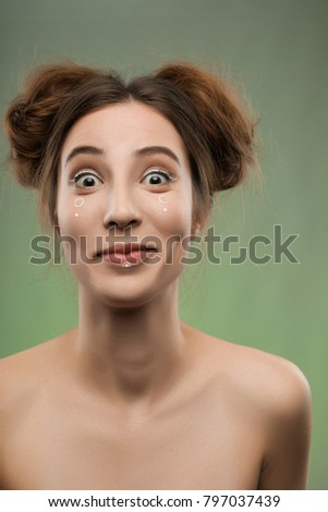 Naked girls with hair in a bun, those hardcore pantyhose fetishists