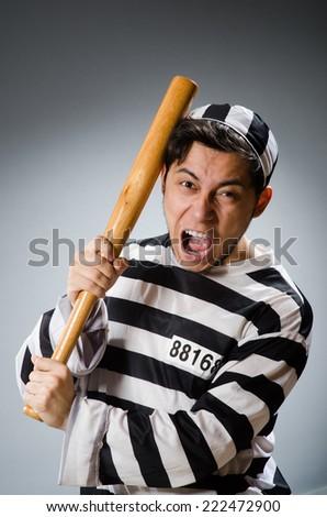 Funny prison inmate in concept - stock photo
