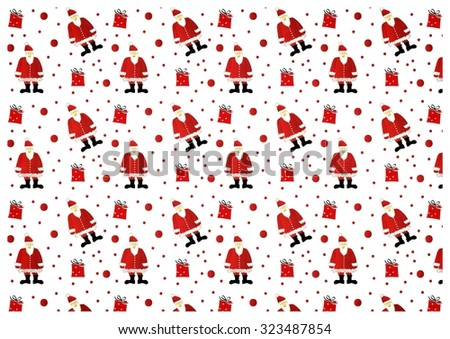 funny santa christmas pattern - stock photo