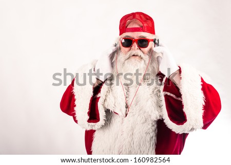 Funny Santa Claus - stock photo