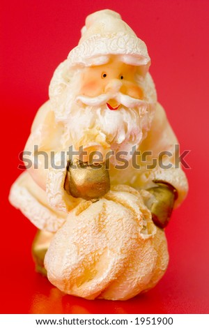 Funny Santa Claus isolated over an uniform background