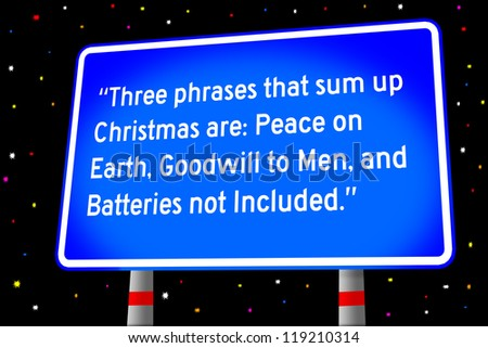 funny saying about Christmas - stock photo