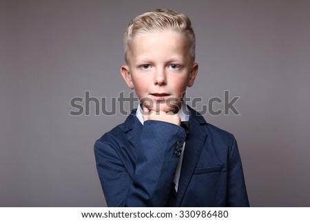 Funny Schoolboy   - stock photo