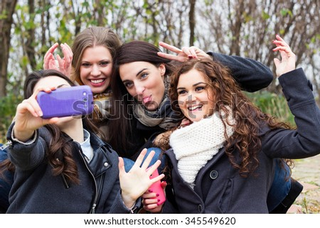 Funny selfie  - stock photo