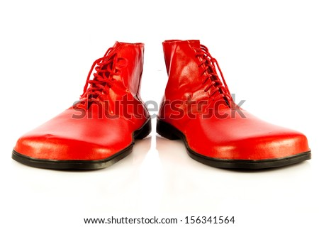 funny shoes isolated on white background - stock photo