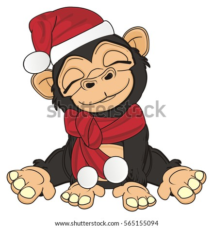 Above Cartoon monkey spank are