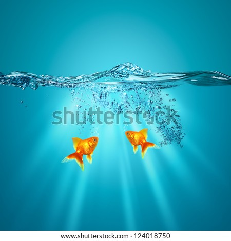 Funny underwater backgrounds for your design - stock photo