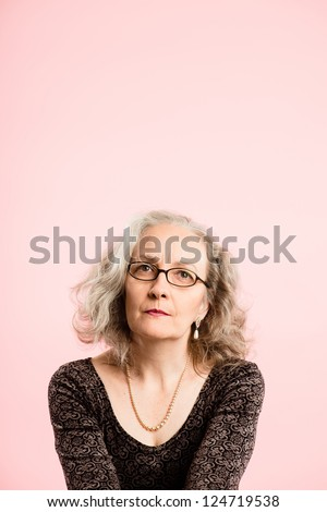 funny woman portrait pink background real people high definition