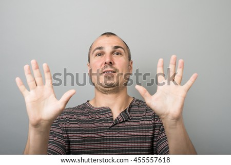 Funny young man - stock photo
