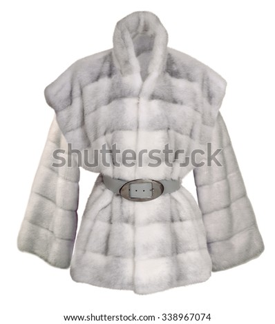 fur coat  - stock photo