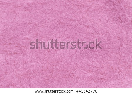 Fur texture pink, sheep sheared. Background, abstract - stock photo