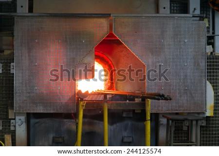 Furnace glassworks - stock photo