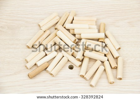 Furnishing accessories on the chipboard - stock photo