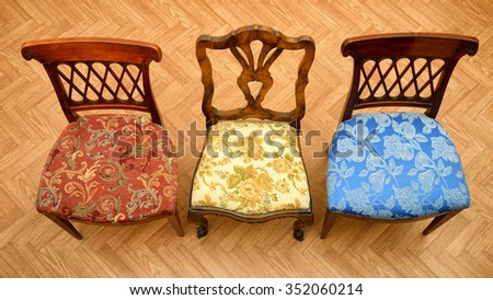 Furniture from above - stock photo