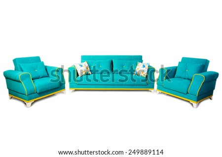 Furniture isolated on white background - stock photo