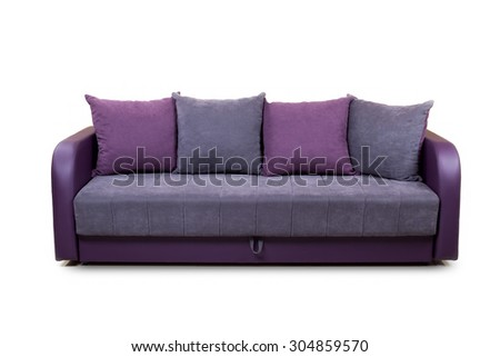 Furniture isolated on white background (unknown model) - stock photo