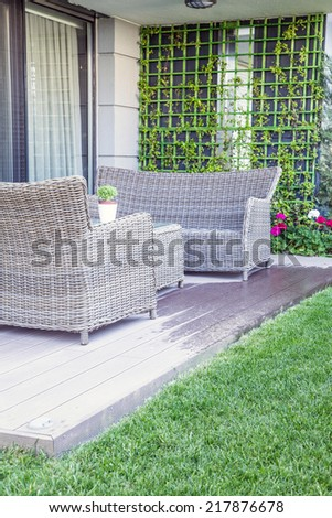 furniture on balcony
