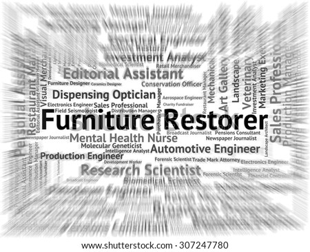 Furniture Restorer Indicating Occupations Refurbish And Fitments