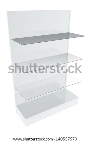 Furniture shelves - stock photo