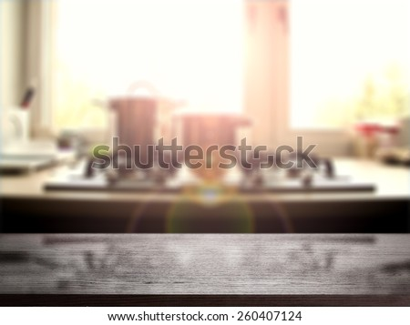 furniture top of wood with free space for you and summer time sunset  - stock photo