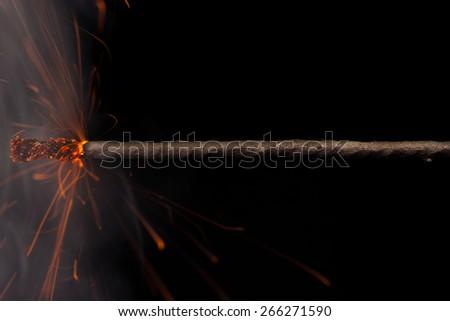 Fuse Burning  - stock photo