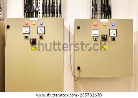 Fuse control panel box with a three rows of dedicated fuses. It is a crutial thing for every building to keep all the fuses well described - stock photo