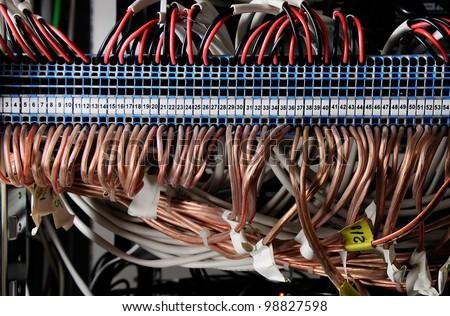 fusebox panel - stock photo