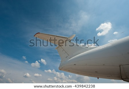 fuselage of the aircraft against the sky