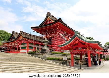 Fushimi Inari-Taisha entrance - stock photo