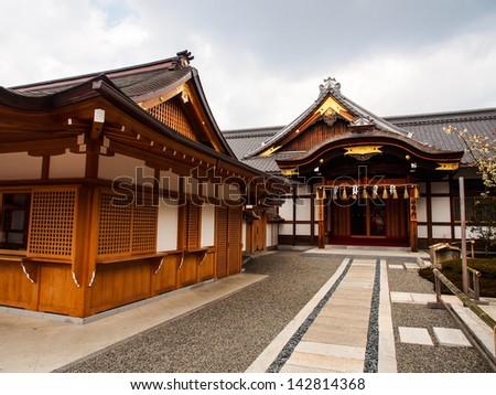 Fushimi-Inari temple, Kyoto, Japan - stock photo