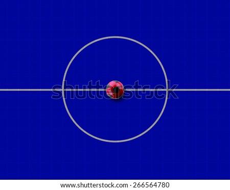 futsal court - stock photo