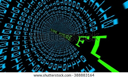 Future data tunnel - stock photo