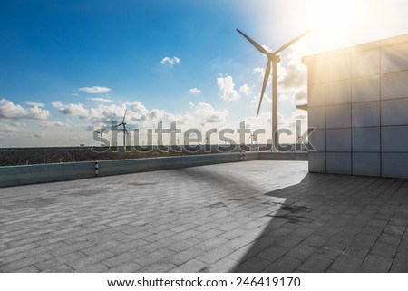 Future electrical production,shanghai china. - stock photo