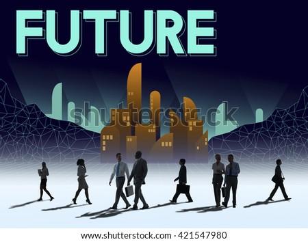 Future Imagine Innovation Plan Progress Vision Concept - stock photo