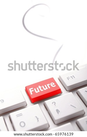 future key on keyboard showing time concept - stock photo