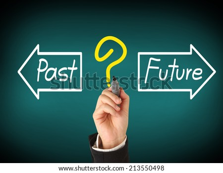 Future or Past - stock photo