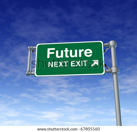 future predictions Freeway Exit Sign highway street symbol green signage road symbol