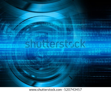 future technology, blue cyber security concept background, abstract hi speed digital internet.motion move speed blur. pixel