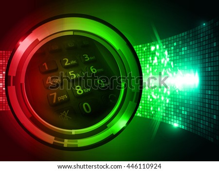 future technology, security concept background, Dark red green blue cyber Light Abstract for computer graphic website internet. circuit. illustration. infographics. motion move. binary - stock photo