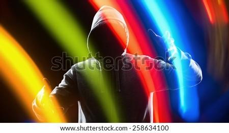 Future technology thief hacker protection - stock photo