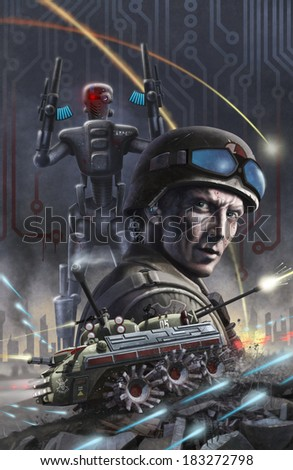 Future War - stock photo