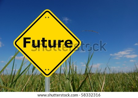 future will bring you success in business and finance - stock photo