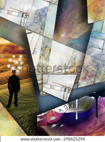 Futurism Abstract - stock photo