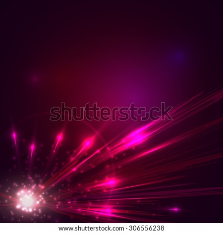 Futuristic abstract background. Explosion of star. - stock photo