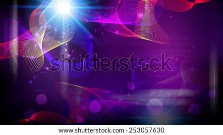 Futuristic abstract fantasy glowing background. Raster version. - stock photo
